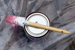 Paint left on a brush for too long will become stiff.