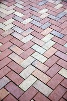Lay out pavers in any desired pattern.