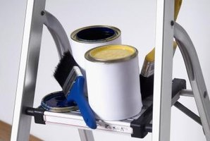 Use latex paint to cover plastic laminate walls.