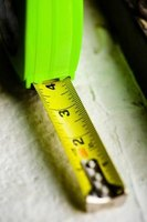 Use a tape measure and a calculator to find the square footage of your countertops.