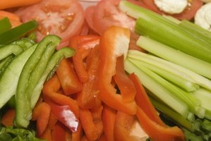 Eating vegetables contributes to weight loss during a period.