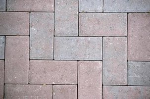 Lay patio pavers at a 90-degree angle for a clean, stylish design.