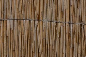 Bamboo fence extensions offer an attractive privacy screen.
