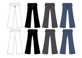 Straight pants have a basic straight leg.