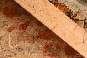 Old beams can be repaired with steel splints.