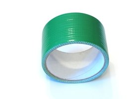 Use duct tape to seal plastic sheets in a simple and inexpensive way.