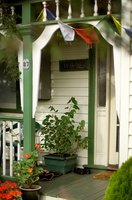 Wooden porch covers can be custom made to fit your needs.