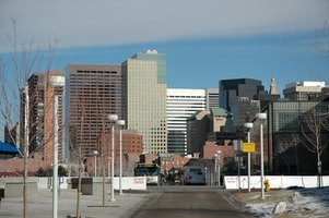 Downtown Denver is accessible by public transportation from hotels near East Hampden Avenue.