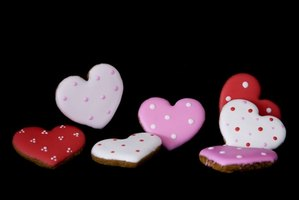 Buy or make heart-shaped cookies.