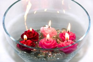 Use floating candles to create a beautiful centerpeice.