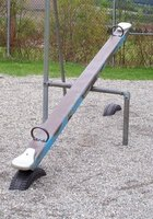 Make your own teeter totter at home.