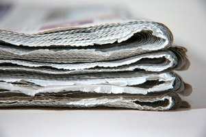 Cellulose insulation is often made from recycled newspaper.
