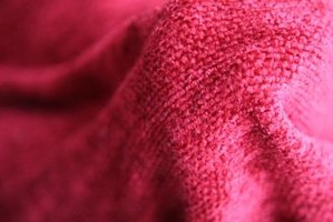 Chenille is a delicate fabric often used in soft furnishings.