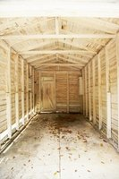 Alternatives to concrete include wood floors, which allow the shed to be moved if needed.
