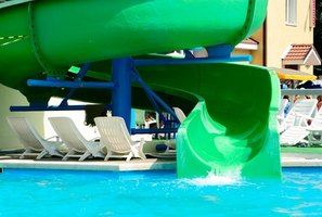 Build a tube slide for your pool.