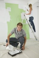 Wall painting is done is several steps.