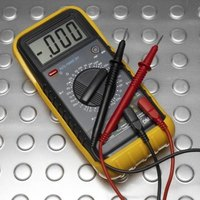 A multimeter measures the electricity in several units.