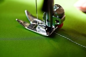 Correct tension will provide even stitching.