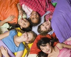Girl scout sleepovers give the troop a chance to bond.