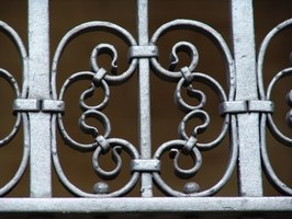 Wrought-iron railings are often highly decorated.