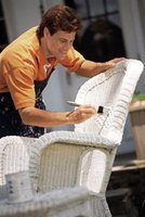 Repair your wicker chair so you can comfortably lounge outside again.