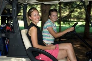Golf carts can also be used off the golf course.
