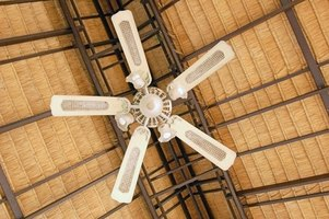 A tall ceiling doesn't mean you can't use a ceiling fan.