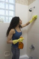 Cleaning haze from tiles may take several days, using different products.