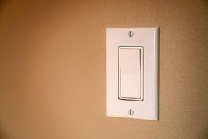 A three-way motion sensor switch can replace a regular switch like this.