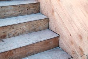 Wood stairs are attractive, but they can be very slippery.