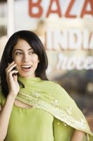 Call a UK mobile phone from India.