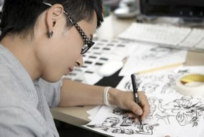 There are specific pens used for manga drawing to help define different drawing techniques.