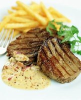 Sirloin tip steak is a lean cut of beef.