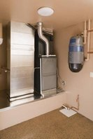 A furnace's efficiency is measured as a percentage value called the annual fuel utilization efficiency.