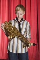 An alto sax is smaller, and usually the first saxophone learned by students.