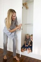 Kids can play hide and seek indoors or out.