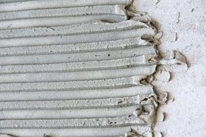 Thinset mortar creates a strong bond with concrete and can be difficult to remove.