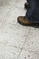 Use care when cleaning concrete floors.