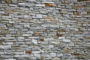 Achieve the look of stonework by applying natural stone veneer.