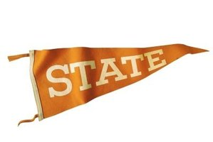 Removable adhesive strips allow you to relocate a pennant without damaging your wall.