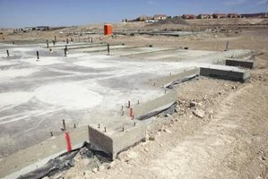 A footing is the cement slab that is used to support a structure.
