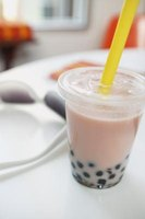 Boba tea features tapioca pearls at the bottom of the cup.