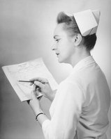Nurse hats were a symbol that nurses had completed their training.