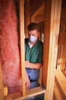 Wear a mask when working with fiberglass insulation.