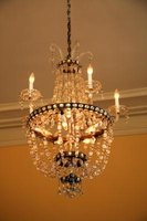 Chandeliers can be hung from any ceiling to improve a space's decor.