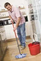 Get your floor extra clean by overlapping each mop stroke.