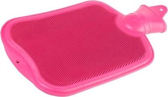 Hot pink hot water bottle