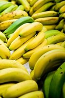 Bananas can ripen evenly when hung on a stand.