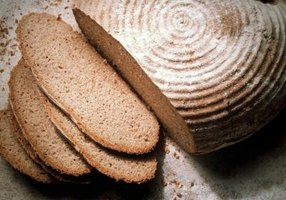 Sourdough starter can be used instead of yeast to help bread rise.