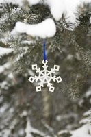 Snowflake ornaments may be used in costume designs.